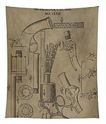 Lemat Revolver Patent Tapestry