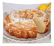 Lemon Bundtcake With Wedge Cut Out Tapestry