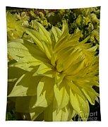 Lemon Yellow Dahlia  Tapestry
