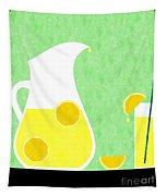 Lemonade And Glass Green Tapestry