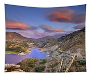 Lenticular Clouds At The Red Sunset Tapestry