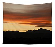 Lenticular Clouds Over Longs Peak 2 Tapestry