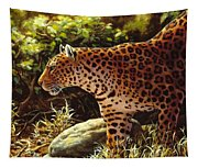 Leopard Painting - On The Prowl Tapestry