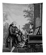 Leopold Mozart And His Two Children Tapestry