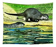 Lets Play And Swim Tapestry