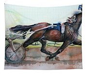 Racehorse Painting In Watercolor Let's Roll Tapestry