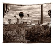 Lewiston Maine Hot Air Balloons Tapestry