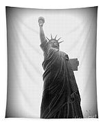 Liberty In Black And White Tapestry