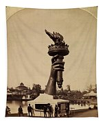 Liberty Torch At Philadelphia For Us Centennial 1876 Tapestry