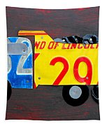 License Plate Art Dump Truck Tapestry by Design Turnpike
