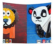 License Plate Art Jungle Animals Series 1 Tapestry