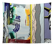 Lichtenstein's Painting With Statue Of Liberty Tapestry
