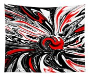 Licorice With Red Cherry Tapestry