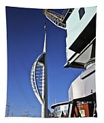Lifting Portsmouth's Spinnaker Tower Tapestry
