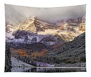 Light On Maroon Bells Tapestry