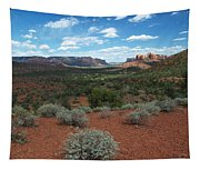 Light Shines On Cathedral Rock Tapestry