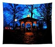 Lighted Gazebo Sunset Park Tapestry