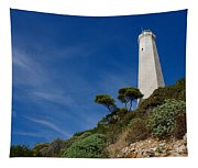 Lighthouse At Saint-jean-cap-ferrat France French Riviera Tapestry