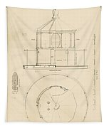 Lighthouse Lantern Drawing Tapestry