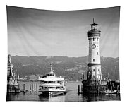 Lighthouse Lindau Lake Constance Germany Tapestry