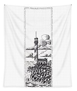 Lighthouse On A Cliff Bookmark Tapestry