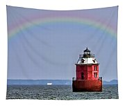 Lighthouse On The Bay Tapestry