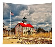 Lighthouse On The Delaware Tapestry