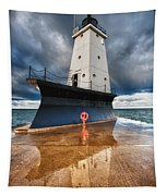 Lighthouse Reflection Tapestry