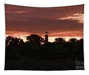 Lighthouse Sunset Tapestry