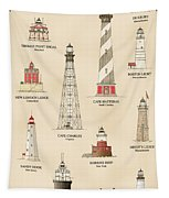 Lighthouses Of The East Coast Tapestry