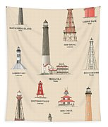 Lighthouses Of The Gulf Coast Tapestry