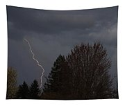 Lightning Over Grants Pass Tapestry