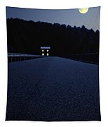 Lights On Up Ahead Tapestry