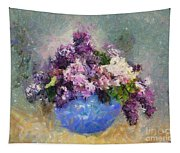 Lilac In Blue Vase Tapestry