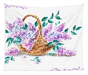 Lilac Vintage Impressionism Painting Tapestry
