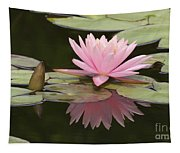 Lilly And Reflective Beauty Tapestry