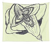 Lilly Artistic Doodling Drawing Tapestry