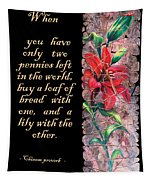 Lily Quote Tapestry