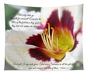 Lily With Scripture Tapestry