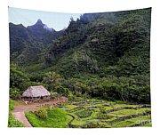 Limahuli Taro Fields In Kauai Tapestry