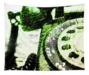 Lime Rotary Phone Tapestry