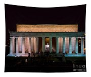 Lincoln Memorial At Night Tapestry