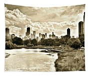 Lincoln Park View Sepia Tapestry