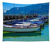 Lined Up Fleet In Sicily Tapestry