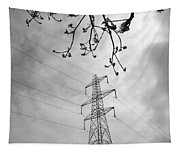Lines In Black And White Tapestry
