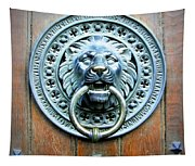 Lion Door Knocker In Norway Tapestry