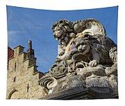 Lion Statue In Bruges Tapestry