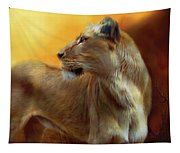 Lioness Is Near Tapestry