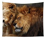 Lions In Love Tapestry