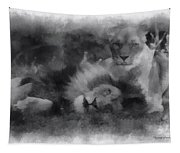 Lions Photo Art 01 Tapestry